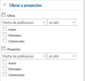 Lista de Obras y Proyectos de una empresa
