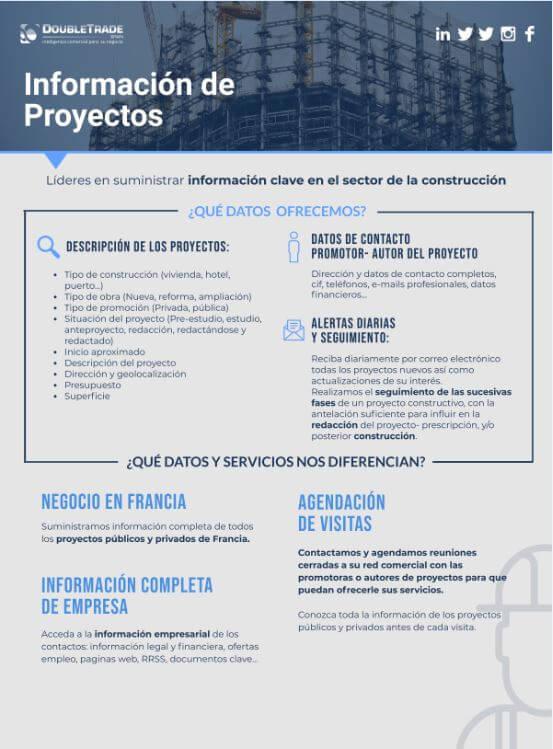 Hoja de producto de Doubletrade Spain de Proyectos